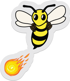 clear firebee sticker