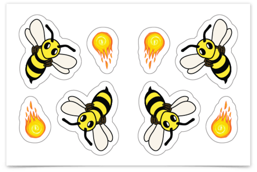 firebees sticker sheet